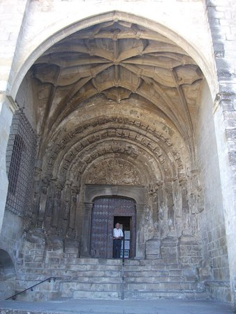 Sos del Rey Catolico, Spain: The magnificent entrance and door
