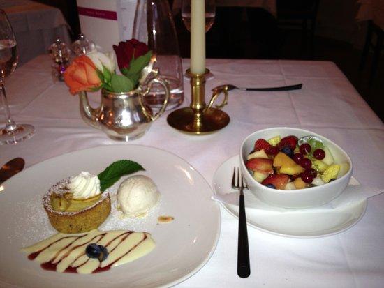 Hotel Rosatsch: Dessert!!