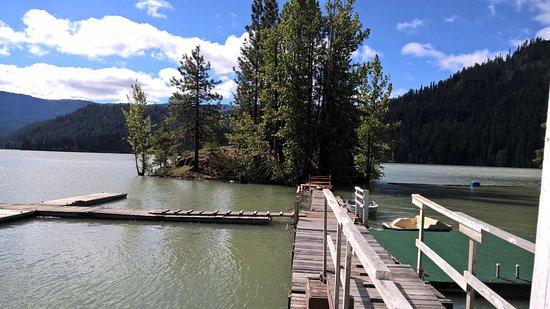 Naches, WA: Rimrocks Lake boat mooring area