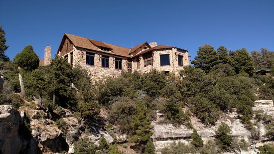Grand Canyon Lodge - North Rim: The North Rim Lodge from one of the rim walk view points.