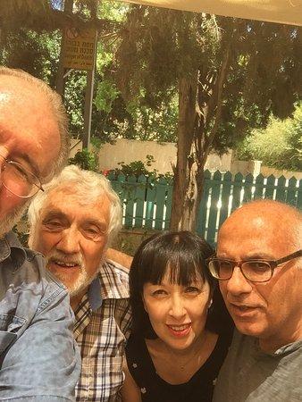 Eden Jerusalem Hotel: L-R: Me, Sammy, Line, Yuval