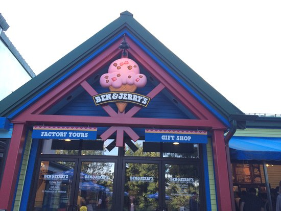 Waterbury, VT: Entrance to Ben & Jerry's Factory