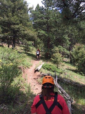 Golden, CO: Hiking up to the super high zipline!