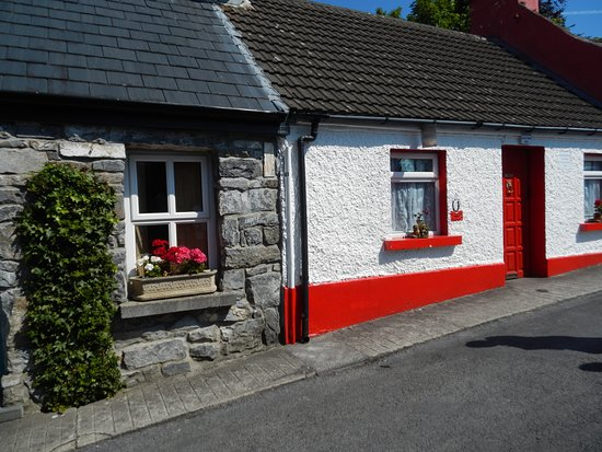 Cong, Irlande : the cottage where the dying man lived