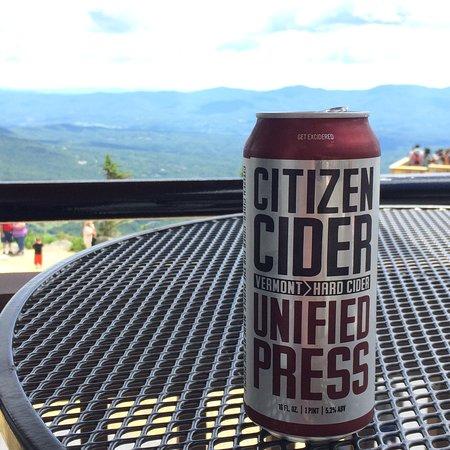 Cliff House Restaurant : Citizen Cider - Vermont cider with a Vermont view