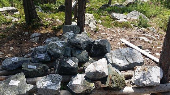 Schatzsuche Langenfeld: Descriptif des différentes roches