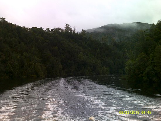 Strahan, Australia: Heading Back downthe Gordon River