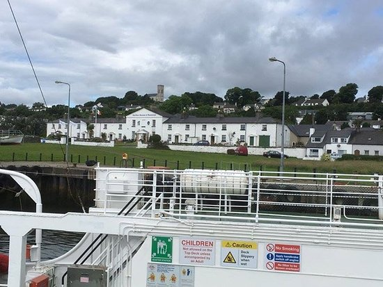 The Coastguard station, Greencastle, from the ferry