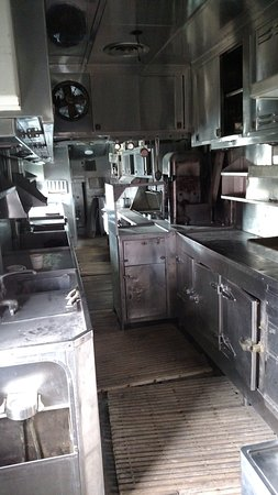 Douglas, WY: Kitchen in Dining Car