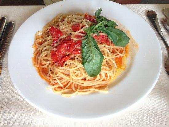 Abetone, Italia: Spaghetti con pomodorini