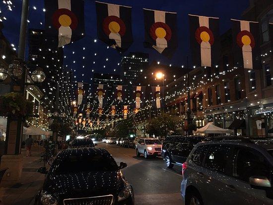 Larimer Square: Street Reflecting Lights