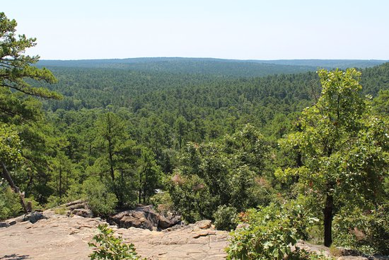 Wilburton, OK: View from atop Robbers Cave