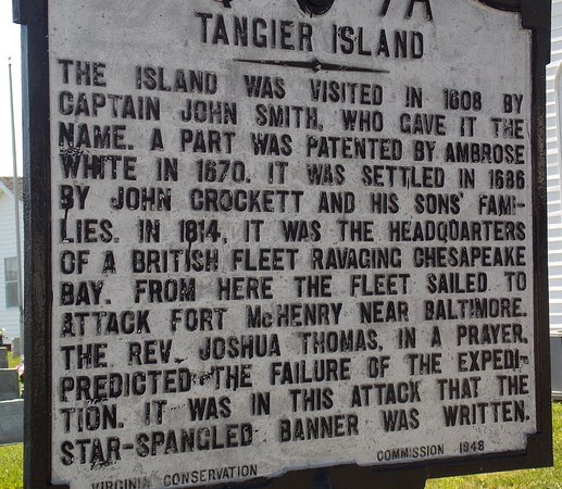Historic Plaque On Tangier Island