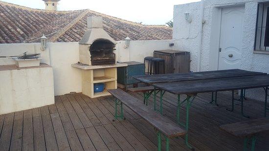 El Arroyo de la Miel, España: outside kitchen