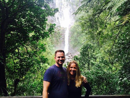 Matamata, New Zealand: Waterfall near B and B
