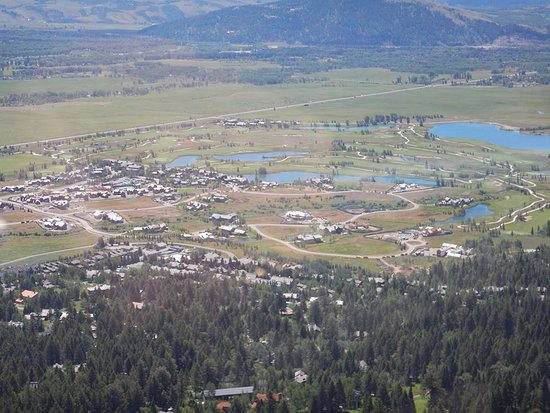 Teton Village, WY: View of Jackson from top of the tram