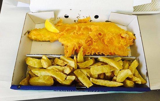 Leintwardine, UK: Delicious Fish n Chips