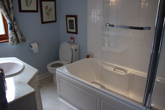 Bed and Breakfast at MellonPatch: Blue room private bathroom