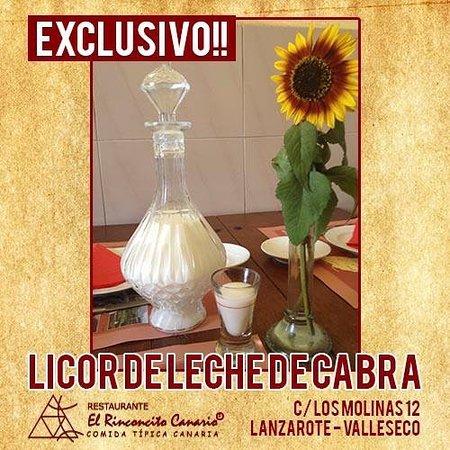 Valleseco, Spanien: Licor de leche de Cabra