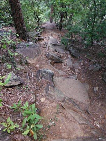Tallulah Falls, Georgien: Sliding Rock Trial