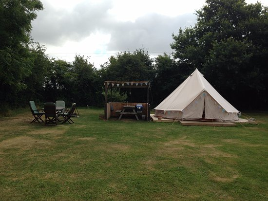 Bungay, UK: our lovely pitch