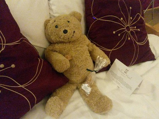 The Belhaven Hotel: Scottish Tablet in room on arrival (Horacethealresfordbear.com)