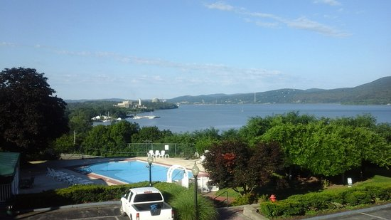 Peekskill, NY: view from the patio outside our room