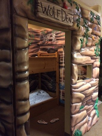 Wolf Den Room Bunk Beds With Tv Picture Of Great Wolf Lodge