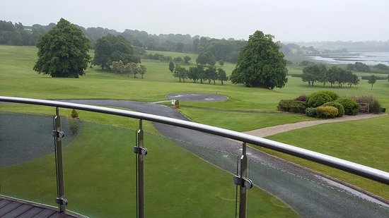 Glasson Golf & Country Club : View from main function room on a wet awful day but still the view is beautiful