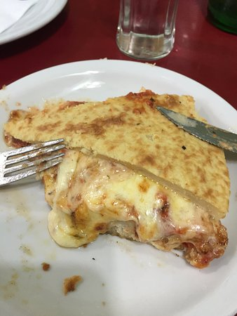 Pizza de mozzarella con faina