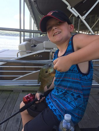 Pittsburg, MO: Yip 42 of these little ones he caught off the dock