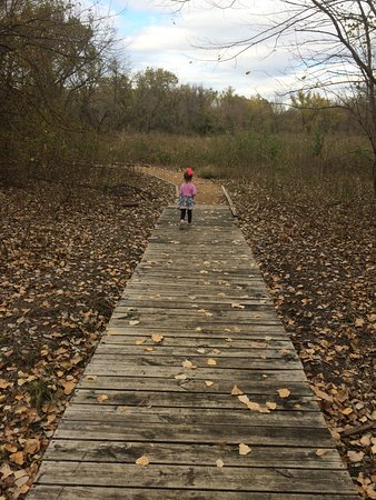 McKinney, Τέξας: Boardwalk leading to the Wetlands on Wood Duck Trail
