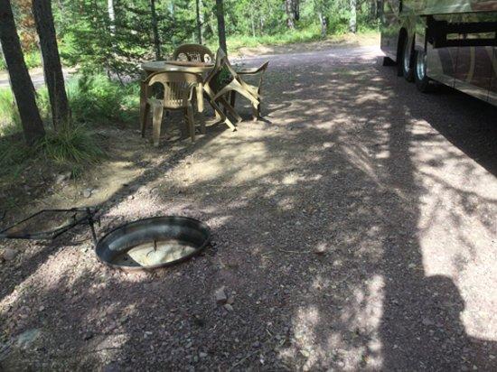 Essex, MT: rv site...dangerous fire pit