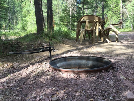 Essex, MT: fire pit