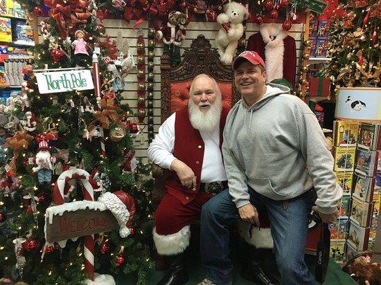 Santa Claus House: Sitting on Santa's lap isn't just for kids.