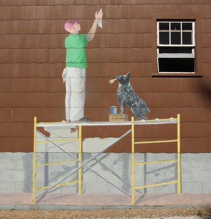 Washington Island, WI: Mural on Outside Wall