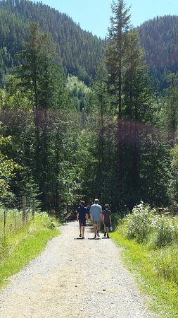 Lumby, Kanada: Walking along one of the roads on the property