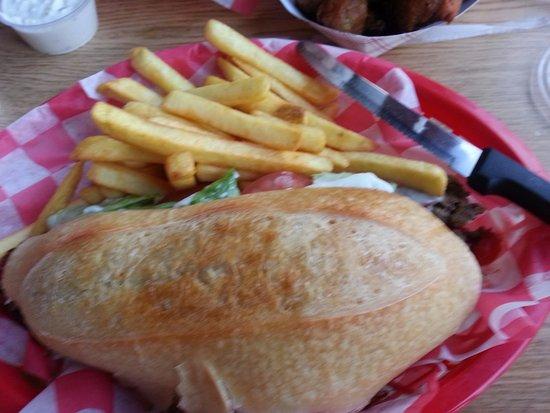 Spencerport, NY: My Shaved Steak sandwich