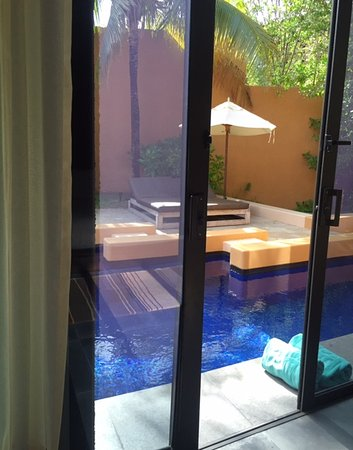 Banyan Tree Mayakoba: Access to plunge pool from room