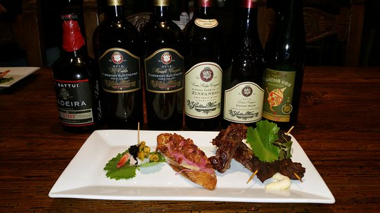 St. Helena, CA: Wine and food pairing - sit-down - very fun!