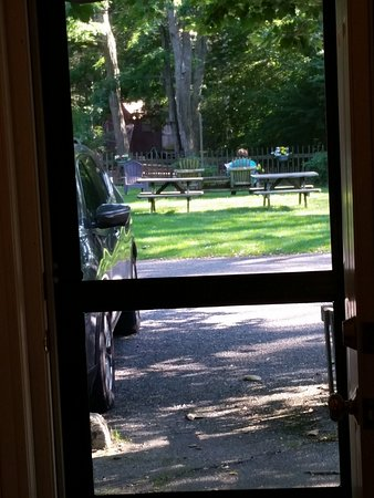 East Sandwich, MA: looking out from our room onto the beautiful grounds