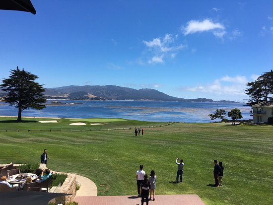 Pebble Beach, CA: View from our table