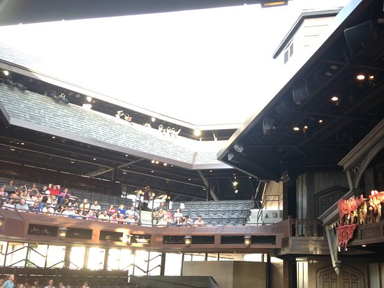 Cedar City, UT: The Engelstadt outdoor theatre- modeled after Shakespeare's Globe.