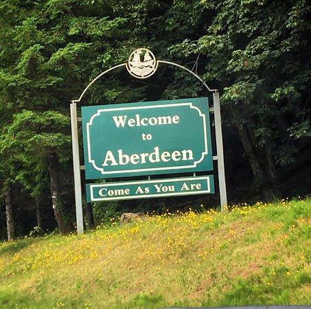 Kurt Cobain Memorial Park: Aberdeen sign