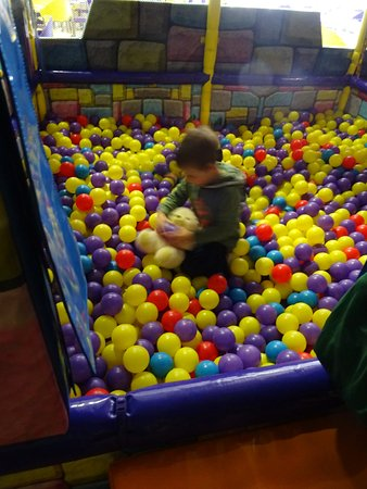 Prospect, Australia: Grandson Noah playing in ball area