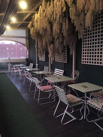 Madame Brussels: the upper terrace