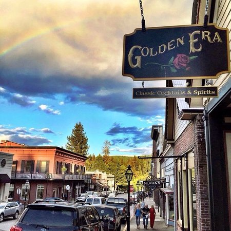 Nevada City, CA: The Golden Era sign