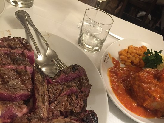 Buca Mario: The thick bisteca fiorentina was rare and the best we had in Florence. Bring an empty stomach!