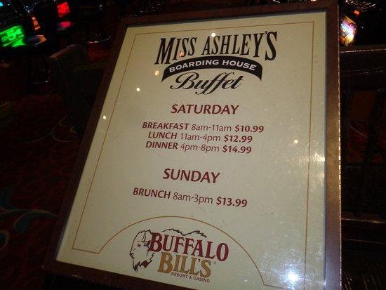 Primm, NV: Buffet only open weekends