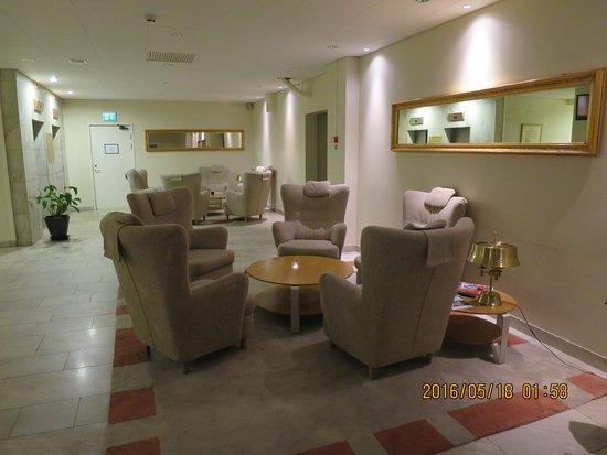 Falun, السويد: Nice waiting area